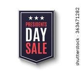 presidents day sale banner ...   Shutterstock .eps vector #363671282