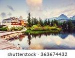 fantastic shtrbske pleso high... | Shutterstock . vector #363674432