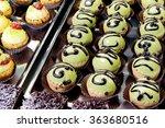display of delicious pastries... | Shutterstock . vector #363680516