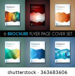 brochure template  flyer design ... | Shutterstock .eps vector #363683606