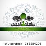 teamwork brainstorming... | Shutterstock .eps vector #363684206
