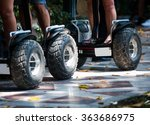 wheels of electric scooters in... | Shutterstock . vector #363686975