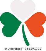 three color clover in irish... | Shutterstock .eps vector #363691772