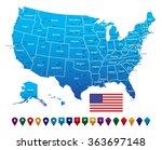 usa map   Shutterstock .eps vector #363697148