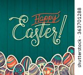 happy easter greeting card. on... | Shutterstock .eps vector #363701288