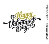 valentins day happy text vector ... | Shutterstock .eps vector #363706268