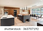 beautiful kitchen interior with ... | Shutterstock . vector #363707192