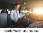 young female entrepreneur... | Shutterstock . vector #363709532