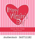 valentine's day vector... | Shutterstock .eps vector #363711182