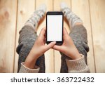 girl with a phone in her hands... | Shutterstock . vector #363722432