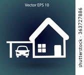 house with garage vector... | Shutterstock .eps vector #363727886