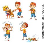 bad behavior. the boy wants to... | Shutterstock .eps vector #363727916