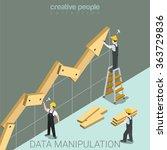 data manipulation flat 3d... | Shutterstock .eps vector #363729836