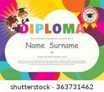 preschool elementary school... | Shutterstock .eps vector #363731462