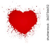 paint heart from painted... | Shutterstock .eps vector #363736652