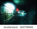 Dark Underground Tunnel. Grung...