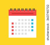 calendar flat icon. us version. ...