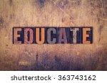 """the word """"educate"""" written in...   Shutterstock . vector #363743162"""