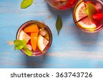 refreshing summer cocktails... | Shutterstock . vector #363743726