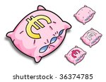 pink vector pillow with a... | Shutterstock .eps vector #36374785