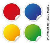 round stickers in different... | Shutterstock .eps vector #363750062