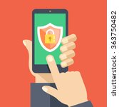 mobile security app on... | Shutterstock .eps vector #363750482