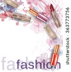 cosmetics  and fashion... | Shutterstock .eps vector #363773756