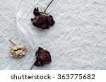 Three Dried Roses  Two Red  On...