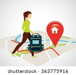 gps service design  | Shutterstock .eps vector #363775916