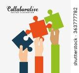 collaborative concept design  | Shutterstock .eps vector #363777782