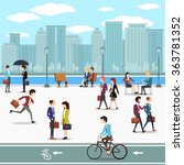 business people walking on the... | Shutterstock .eps vector #363781352