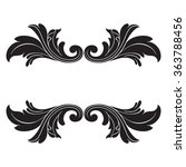 vintage baroque frame scroll... | Shutterstock .eps vector #363788456