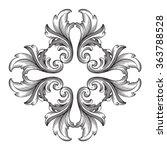 vintage baroque frame scroll... | Shutterstock .eps vector #363788528