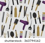 hair salon pattern | Shutterstock .eps vector #363794162