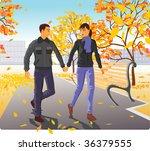 autumn in city | Shutterstock .eps vector #36379555
