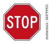 australia stop road sign | Shutterstock .eps vector #363799922