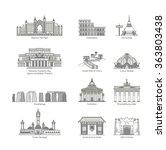 World Landmark Icon Set   Eps10 ...