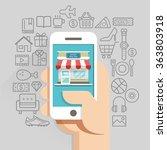 shopping online business...   Shutterstock .eps vector #363803918