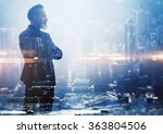 double exposure photo a... | Shutterstock . vector #363804506