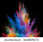 explosion of colorful powder ... | Shutterstock . vector #363809672