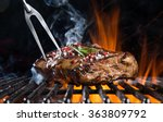 grilled beef steak on the grill ... | Shutterstock . vector #363809792