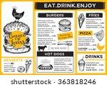 restaurant brochure vector ... | Shutterstock .eps vector #363818246