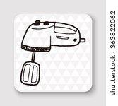 mixer doodle | Shutterstock .eps vector #363822062