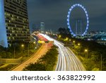 singapore cityscape and light... | Shutterstock . vector #363822992