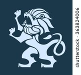vector stylized rampant lion... | Shutterstock .eps vector #363824006