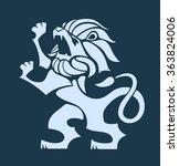 vector stylized rampant lion... | Shutterstock .eps vector #363824006