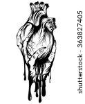 abstract vector illustration... | Shutterstock .eps vector #363827405
