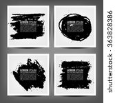 marker stains. grunge banners.  | Shutterstock .eps vector #363828386
