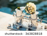 wedding bouquet with roses on... | Shutterstock . vector #363828818