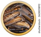 top view of tinned fish... | Shutterstock . vector #363835892